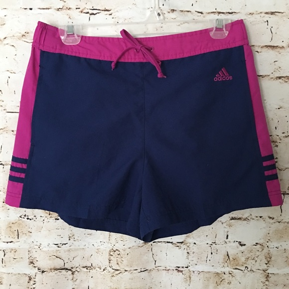 ADIDAS Track Short in Navy and Purple